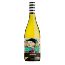 Viño branco albariño Marieta. Albariño semiseco Rías Baixas