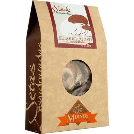 Setas deshidratadas en estuche: Shiitake (Lentinula edodes)